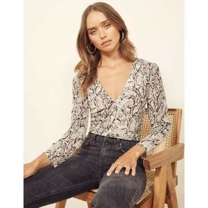 Reformation Rattlesnake Jenna Button Down Top
